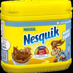 Poudre chocolatée instantanée moins de sucre Nesquik NESTLE,boîte 350g