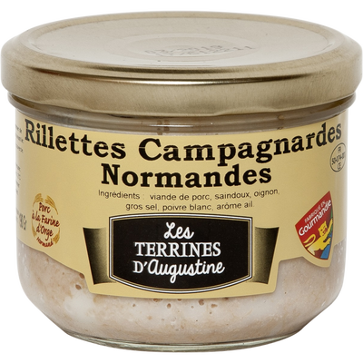 Rillettes campagnardes normandes LES TERRINES D'AUGUSTINE, 190g