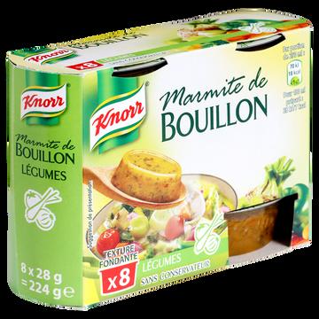 Knorr Marmites De Bouillon Aux Légumes Knorr, 8 Coupelles, 224g