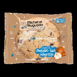 Le Vrai Cookie gros morceaux de chocolat au lait noisette MICHEL&AUGUSTIN, 70g