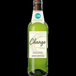 Vin blanc Pays d'Oc Chardonnay IGP  Viognier CHANGE, 75cl