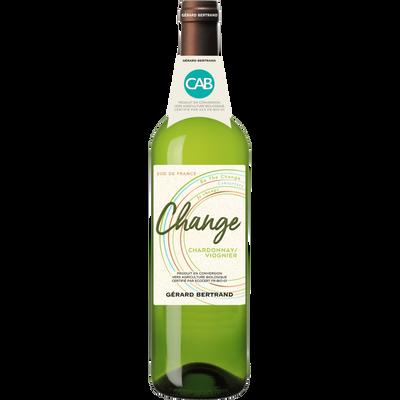 Vin blanc Pays d'Oc Chardonnay IGP  Viognier CHANGE 2018, 75cl