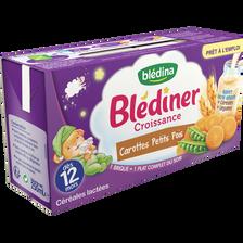 Blédina Blediner Croissance Aux Carottes Et Petits Pois, Dès 12 Mois, 2x250ml