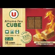 Allume-feu en cube 100% d'origine végétale U, x32
