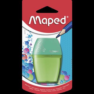 Taille crayon à réservoir MAPED Shaker, 1 trou, coloris assortis