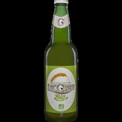 Bière BIO LICORNE, 5°, bouteille de 66cl