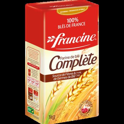 Farine complète FRANCINE, boîte de 1kg