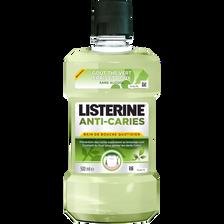 Bain de bouche quotidien anti carie sans alcool, LISTERINE, bouteillede 500ml