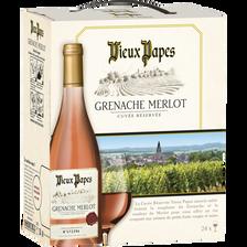 Vin rosé d'Espagne VIEUX PAPES, fontaine à vin de 3l