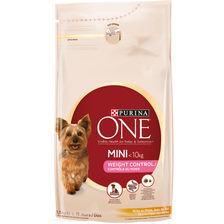 Purina One Mini Weight Control Dinde&riz Petit Chiens 1,5kg