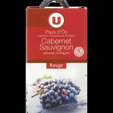 Pays d'Oc IGP Cabernet Sauvignon rouge , U, fontaine à vin de 5 litres