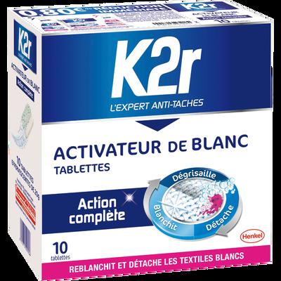 Activateur de lavage pour linge blanc K2R, 10 tablettes, 200g