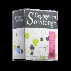 Vin rosé IGP Charentais Cépages Saintonge, fontaine à vin de 3l