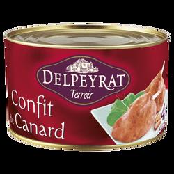 Confit de canard 4 à 5 cuisses DELPEYRAT, boîte de 1,35kg
