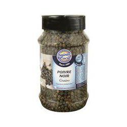poivre noir en grains, SAINTE LUCIE, pot de 245g.
