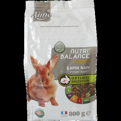 Mélange de granules lapin nain nutribalance expert, AIME, 800g