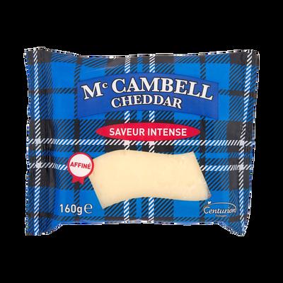 Cheddar mature blanc au lait pasteurisé 34,9% de MG, MC CAMBELL, 160 g