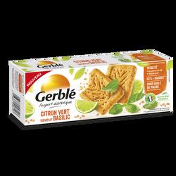 Sablés au citron vert et au basilic GERBLE, 200g