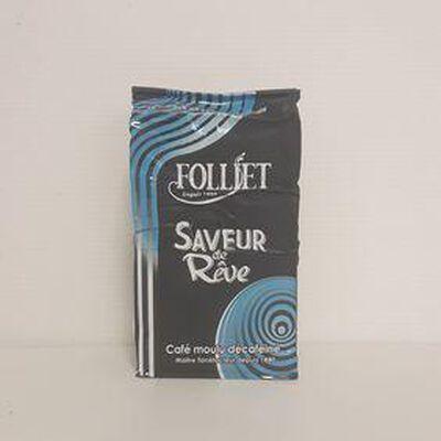 Café décaféiné FOLLIET paquet 250g