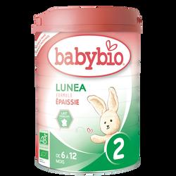 Lait Lunea 2 BABYBIO, dès 6 mois, 900g