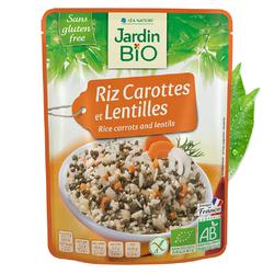 Riz carottes lentilles JARDIN BIO 220g