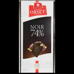 Tablette de chocolat noir 74% ORSET, 100g