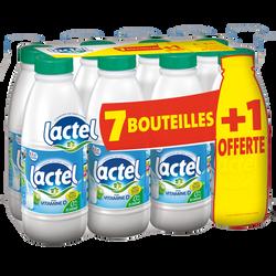 Lait UHT écrémé LACTEL bouteille plastique x7+1l offert