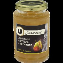 Confitures de poires de Provence U SAVEURS, 315g