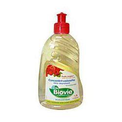 Liquide vaisselle écologique concentré parfum fruits rouges BIOVIE, flacon de 50