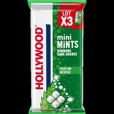 Mini minth menthe sans sucres HOLLYWOOD, 3x12,5g