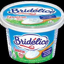 Crème fraîche légère épaisse BRIDELICE, 15%MG, 20cl