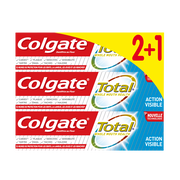 Colgate Dentifrice Total Action Visible Colgate, 3 Tubes De 75ml