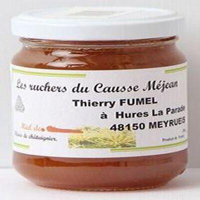 Miel de fleurs de châtaignier, Les ruchers du Causse Méjean, 250g