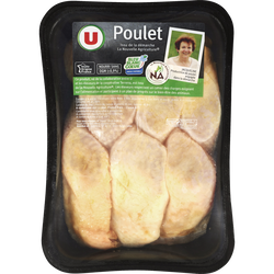 Cuisse de poulet jaune déjointée U, France, 6 pièces