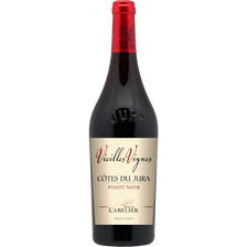 Vin rouge Pinot Côtes du Jura AOP Pinot noir Domaine vieilles vignes Cabelier, bouteille de 75cl