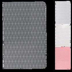 Carnet piqure U, 5x5, 11x17 cm, 96 pages, coloris assortis
