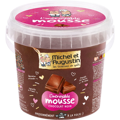 L'incroyable mousse au chocolat noir MICHEL & AUGUSTIN, pot de 500ml