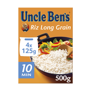 Uncle Ben's Riz Long Grain Cuisson 10' Uncle Ben's, 4x125g