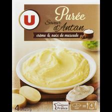 Purée saveur d'Antan à la crème et noix de muscade U, 4x125g
