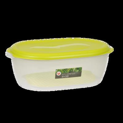 Boîte hermétique rectangulaire U Eden en polypropylène, 4l, vert, avecgrille