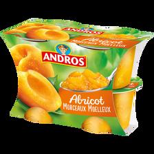 Délice d'abricot avec morceaux ANDROS, 4X100g