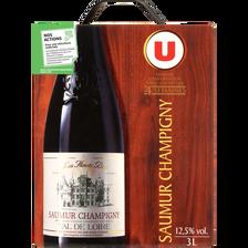Vin rouge AOC Saumur Champigny Les hauts buis U, fontaine à vin de 3l