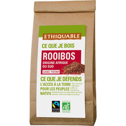 Thé rouge rooibos sans théine Afrique du Sud Bio ETHIQUABLE, 100g