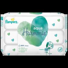 Pampers Aqua Harmonie Lingettes Pour Bébé 3x48 144 Lingettes