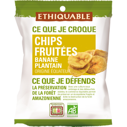 CHIPS FRUITEES DE BANANE PLANTAIN BIO EQUATEUR 85G