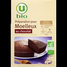 Préparation pour moelleux chocolat U BIO, boite de 300g