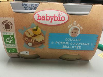 Pot Douceur Pomme Biscuit BABYBIO dès 6 mois 2x130g