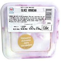 Crème glacée Amarena, bac de 1l