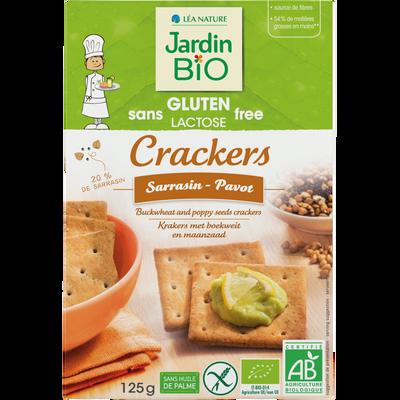 Crackers sarrasin pavot SG JARDIN BIO