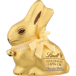 Moulage lapin or en chocolat blanc LINDT, 100g
